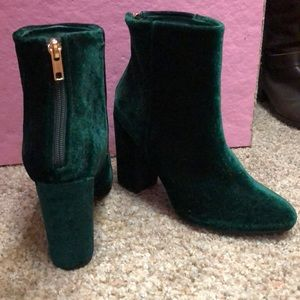 Shoedazzle Denny Velvet Booties